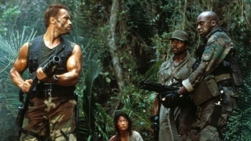 Predator (1987) Directed by John McTiernan Shown from left: Arnold Schwarzenegger, Elpidia Carrillo, Carl Weathers, Bill Duke